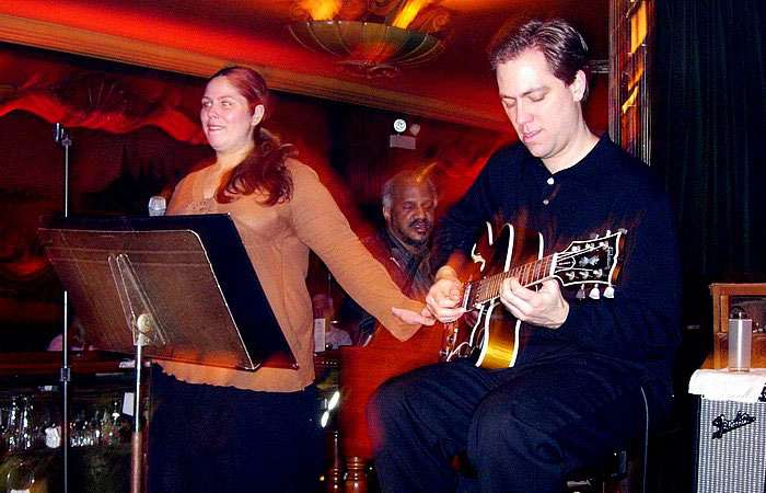 Andy Brown with Kimberly Gordon and Chris Foreman at the Green Mill